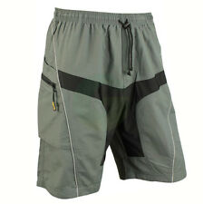 Men's MTB Mountain Bike Cycling Casual Pants Shorts + Detachable Padded 5 SIZES