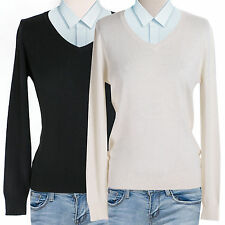 Women's Lightweight Cashmere V neck Sweater
