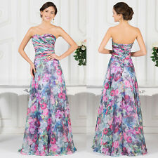 CHEAP Retro Flower Long Wedding Formal Evening Gown Prom Party Homecoming Dress
