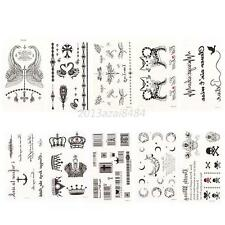 10 Sheets Unique Body Art Stickers Removable Waterproof Temporary Tattoo Party