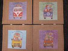 Large Jute Bag Christmas Theme Volkswagen Camper T1, T2, VW Transporter T4, T25