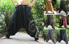 Harem Drop Crotch Bohemian Trousers Yoga Boho Baggy Gypsy Hippie Aladdin Pants