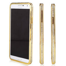 Luxury Bling Crystal Diamond Metal Frame Hard Case Cover F Samsung Galaxy Note 4