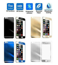 Color Mirror Effect Tempered Glass Screen Protector For iPhone 4 4S 5 5S 6 Plus