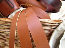 "60"" LONG LIGHT SADDLE TAN 2mm (5-6OZ) THICK NATURAL LEATHER STRAP VARIOUS WIDTHS"