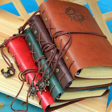 Pirate Design Retro Leather Cover Notebook String  Stationery For Travel Gift