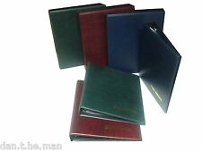CLASSIC COIN ALBUM & CHOICE OF SLEEVES, BLUE RED BLACK GREEN BINDER ADD SLIPCASE