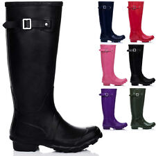 NEW WOMENS FLAT FESTIVAL WELLIES WELLINGTON Rain Boots US 5-10