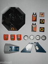 Lego stickered / printed parts for various sets - PART SETS ONLY