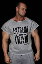 MENS BODYBUILDING CLOTHING RAGTOP EXTREME IS HOW I TRAIN FLEECE GYM MUSCLE SHIRT