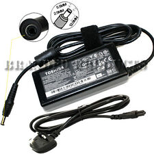NEW Genuine Original Toshiba Laptop Charger Power Adapter 65W + Free UK Cable