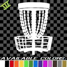 Disc Golf Basket decal vinyl sticker car truck window bumper chain banger