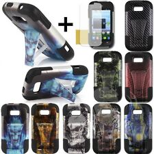 Hybrid Armor Protector Stand Cover Case For ZTE Savvy Z750C Awe N800 Reef N810 2