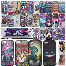 New Colorful Painted Pattern Back hard PC Case Cover For iPhone 5 5S