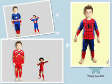 Boys Captain America Spider-man Iron man Pajamas Sleepwear Outfits Nightwear
