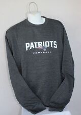 New England Patriots NFL PullOver Charcoal Crewneck SweatShirt Sweater