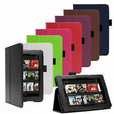 """PU LEATHER CASE COVER FOR AMAZON KINDLE FIRE HD 6"""", HD 7"""", HDX 7"""" TABLET"""