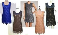 Scallop Sequin Beaded Flapper Art-deco Party Mini Dress cocktail formal 1920s