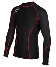 Mens Thermal Compression Base Layer Long Sleeve Top Body Armour Cold Wear Skins