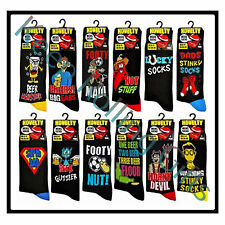 MENS SOCKS JOKE COMEDY NOVELTY GIFT BLACK 1 PAIR VALENTINE GIFT FOR MEN