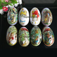 Metal Tin Easter eggs Gadget Gift Storage Candy Box Case Decor Family Decoration