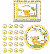Sweet Circle Of Life Edible Baby Shower Cake Cupcake Toppers Party Lion King