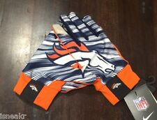 NIKE NFL LIGHTWEIGHT STADIUM FAN GLOVES DENVER BRONCOS ORANGE/NAVY GF0321-100