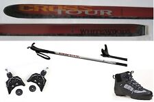 NEW CROSSTOUR XC cross country 75mm SKIS & BINDINGS & BOOTS & POLES - 207cm