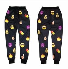 Men Women Black EMOJI funny print Autumn Sweatpants Winter 3D jogger Sweat Pants