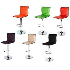 SET of (2) Bar Stool Leather Modern Hydraulic Swivel Dinning Chair Pub Barstools