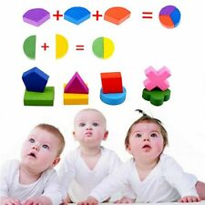 Wooden Geometry Developmental Toy Kids Baby Montessori Educational Blocks Puzzle