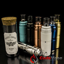 Le Petite Gros Mechanical Mod + Hobo v2.1 + Pyrex Drip Tip. Multi-Color 18350.