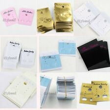 100/500x Pretty Studs Earrings Plastic Display Cards Package Jewelry Displays D