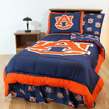Auburn Tigers Reversible Comforter Sham and Valance Queen or King Size