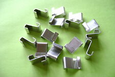 FREE POST*** GREENHOUSE GLAZING POLISHED ALUMINUM Z CLIPS CHOOSE FROM 20 TO 500