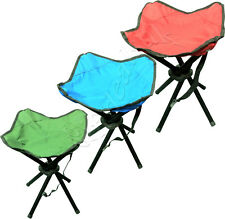 4LEGS STRONG CHAIR SEAT STOOL CAMPING PORTABLE HIKING FISHING BBQ FOLDING COLOUR