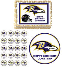 Baltimore Ravens Edible Birthday Cake Cupcake Toppers Party Decorations Images