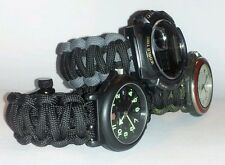 KING COBRA PARACORD SURVIVAL WATCH BAND - MULTI COLOR - YOU CHOOSE COLORS/SIZE