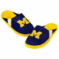 Michigan Wolverines Youth Jersey Mesh SLIDE SLIPPERS New - FREE SHIPPING - NCAA