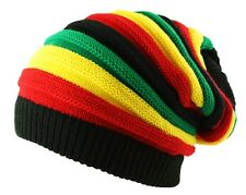ITZU Co. RASTA Reggae Oversized Slouch Pull On Knitted Beanie Cap Hat