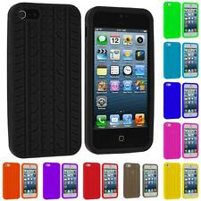 Tire Treads Color Silicone Rubber Skin Case Cover for iPhone 5 5G 5S