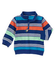 NWT Gymboree SUPER DUDE Size 4T or 5T Half Zip Striped Pullover Top