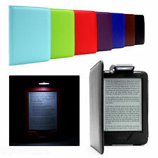 PREMIUM PU LEATHER CASE COVER WITH BUILT-IN LED LIGHT FOR KINDLE 7 WITH TOUCH