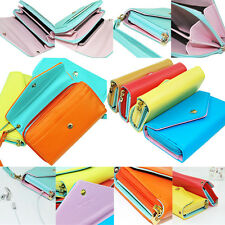 Women Casual Pouch Purpose Envelope Purse Wallet For Galaxy S2,S3,iphone 5s 5 4s
