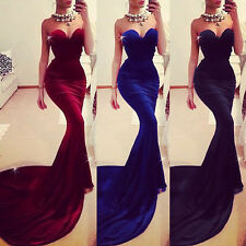 2014 New Long Mermaid Prom Formal Party Evening Pageant Dress Wedding Gowns
