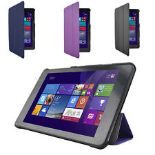 ULTRA THIN LEATHER HARD CASE COVER FOR NEW DELL VENUE 8 (ANDROID, FULL HD, 2014)