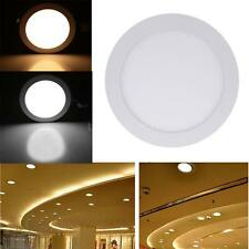 15W Round LED Recessed Ceiling Panel Light Lamp for Bathroom Kitchen AC85-265V