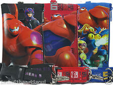 Disney Big Hero 6 Black Blue Red Lanyard Fastpass ID Case Ticket Badge Holder