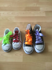 CHILDRENS satin ribbon shoe laces.superior quality. LOW/HI TOP /OTHER