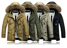 2014 Hot Men's down jacket Warm long thicker Coat Fur collar Hooded Coldproof